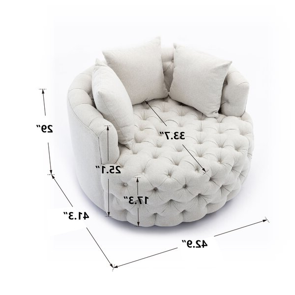 Dorcaster Barrel Chairs Regarding Well Known Dorcaster Swivel Barrel Chair (View 6 of 30)