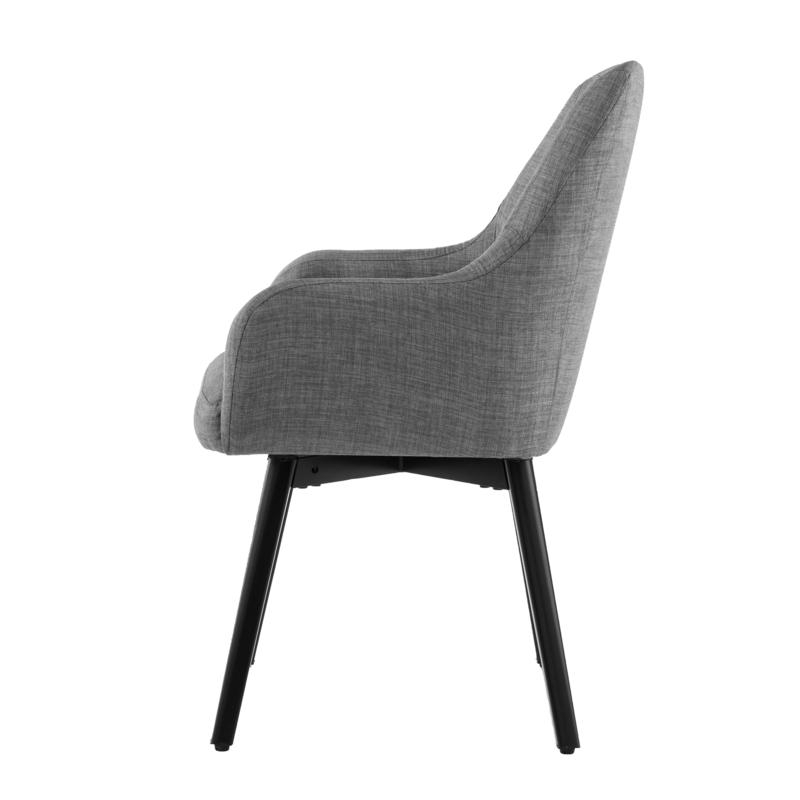 Draco Armchairs In 2020 Draco Pair Of Upholstered Swivel Arm Chairs – Light Gray (View 8 of 30)