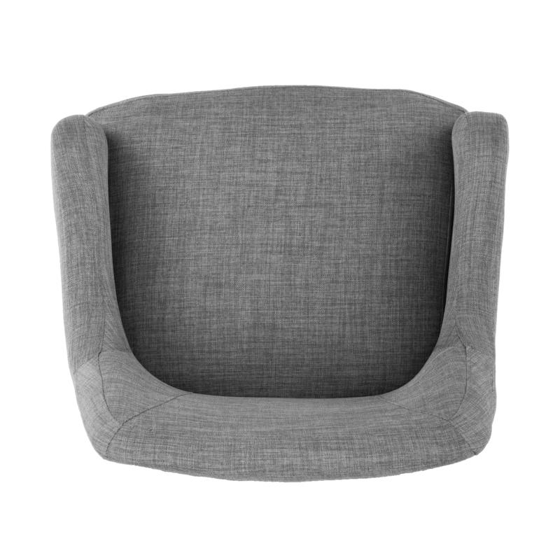 Draco Pair Of Upholstered Swivel Arm Chairs – Light Gray With Latest Draco Armchairs (View 17 of 30)
