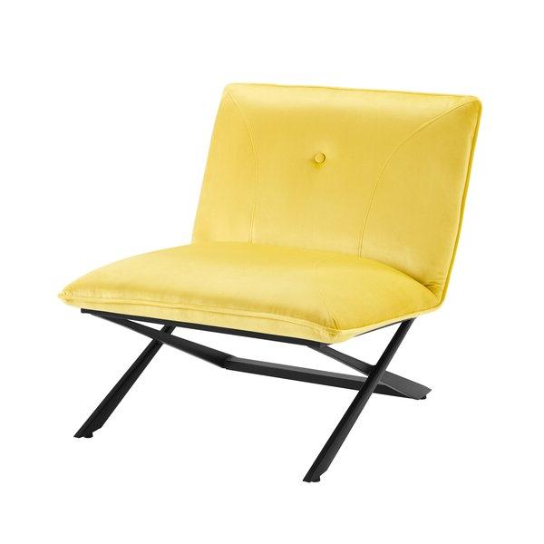 """Easterling Velvet Slipper Chairs Intended For Most Current Gilyard 28"""" W Tufted Velvet Slipper Chair (View 18 of 30)"""