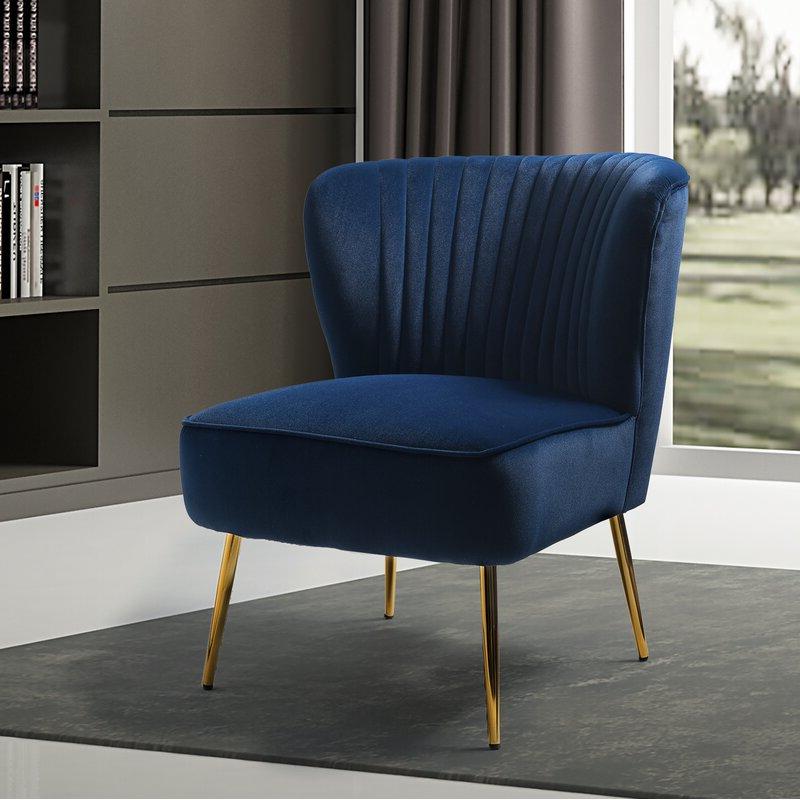 Erasmus Side Chair For Trendy Erasmus Velvet Side Chairs (set Of 2) (View 2 of 30)