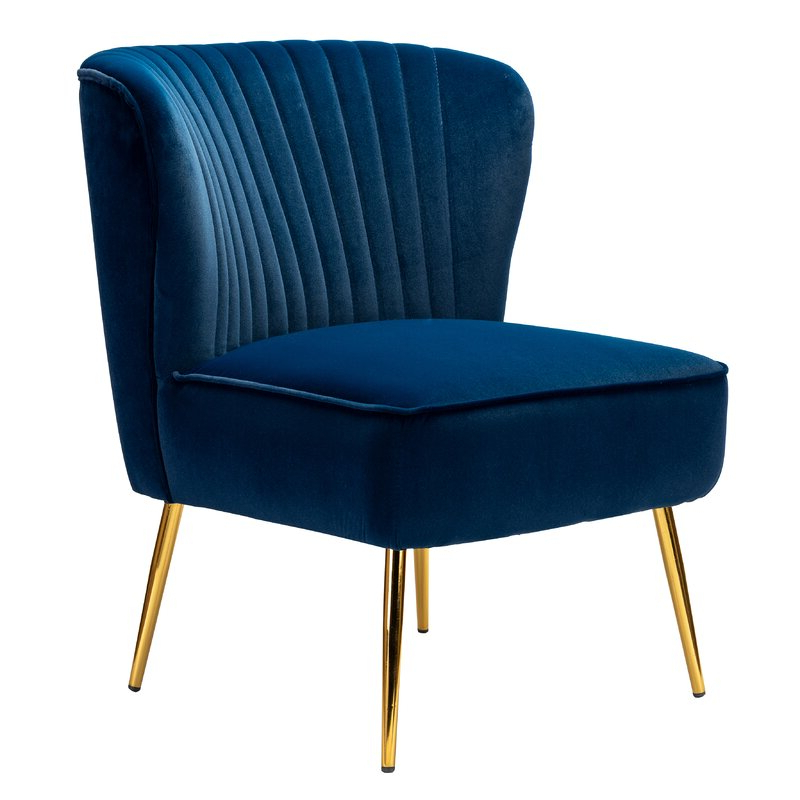 Erasmus Velvet Side Chairs (set Of 2) Intended For 2019 Erasmus Side Chair (View 3 of 30)