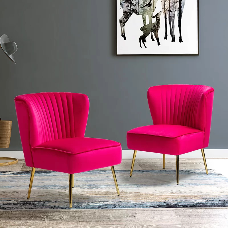 Erasmus Velvet Side Chairs (set Of 2) Pertaining To 2020 Erasmus Side Chair (View 11 of 30)