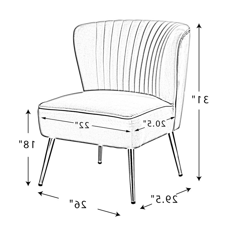 Erasmus Velvet Side Chairs (set Of 2) Regarding Trendy Erasmus Side Chair (View 12 of 30)