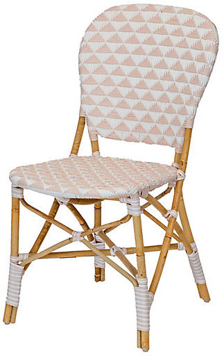 Erasmus Velvet Side Chairs (set Of 2) Throughout Most Current Pinnacles Side Chair – White/blush (View 27 of 30)