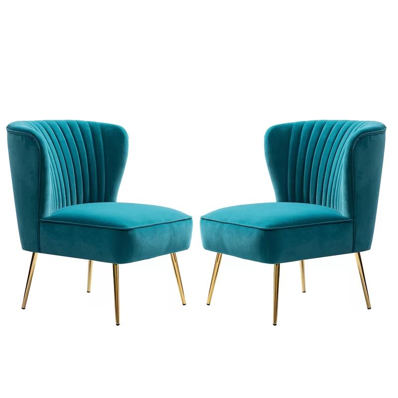 Erasmus Velvet Side Chairs (set Of 2) Throughout Most Popular Erasmus Side Chair (View 5 of 30)