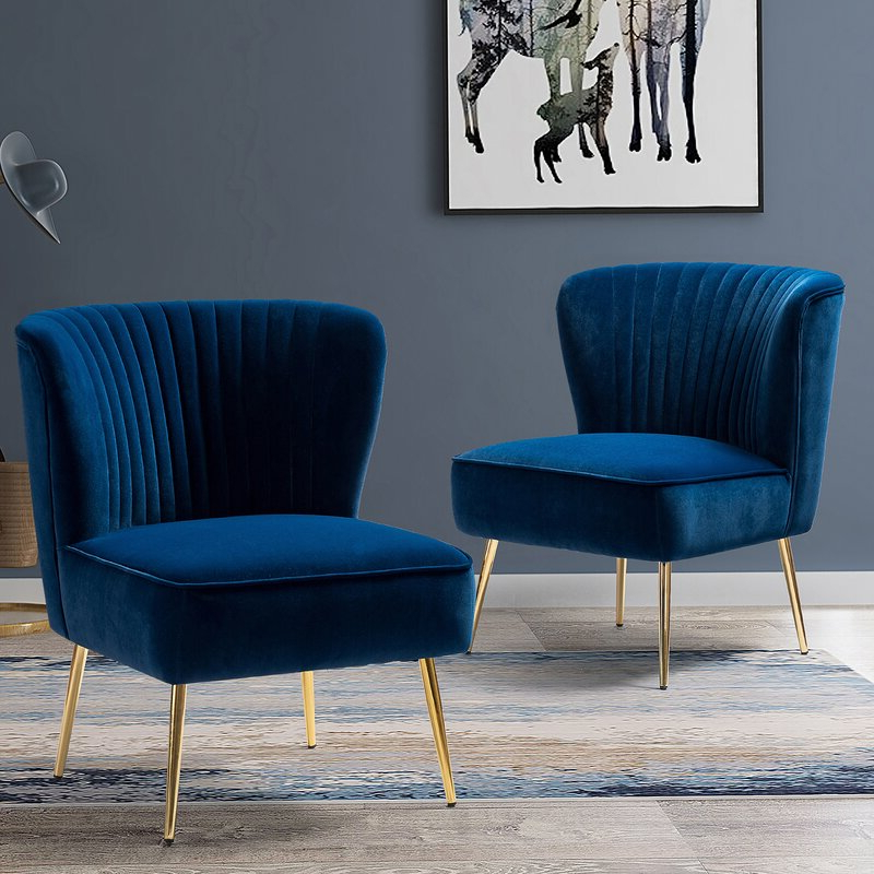 Featured Photo of Erasmus Velvet Side Chairs (Set Of 2)