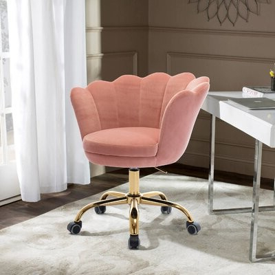 Erasmus Velvet Side Chairs (set Of 2) Within Fashionable Spicewood Task Chair Upholstery Color: Pink Velvet (View 28 of 30)