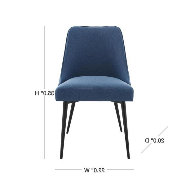 Esmund Side Chairs (set Of 2) Pertaining To Recent Steve Silver Colfax Blue Side Chair (set Of 2) Cf450sn – The (View 17 of 30)