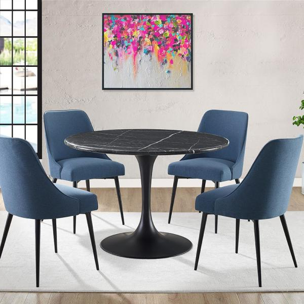 Esmund Side Chairs (set Of 2) Regarding Most Recent Steve Silver Colfax Blue Side Chair (set Of 2) Cf450sn – The (View 14 of 30)