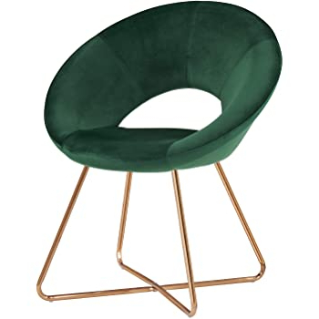 Famous Amazon: Novogratz Alivia Accent Chair, Green Velvet In Aalivia Slipper Chairs (View 22 of 30)