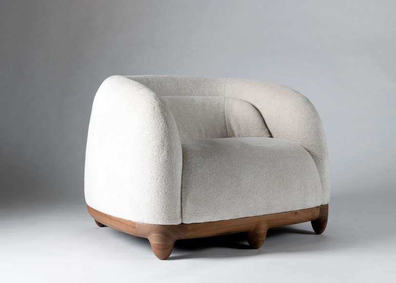 Famous Armchair From The Chance Series – Franck Genser – Collection Inside Armory Fabric Armchairs (View 20 of 30)
