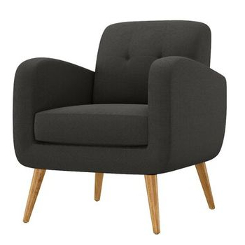 Famous Barone Mid Century Fabric Club Chair – Allmodern Intended For Hiltz Armchairs (View 21 of 30)