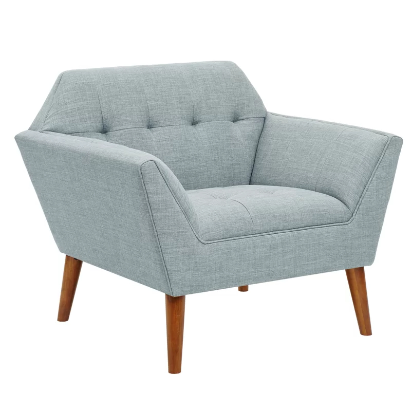 """Famous Belz 38"""" W Tufted Polyester Armchair (View 7 of 30)"""