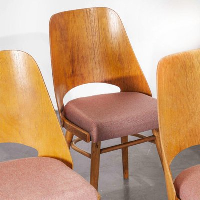 Famous Chiles Linen Side Chairs In Upholstered Dining Chairsradomir Hoffman For Ton, Czech, 1950s, Set Of (View 21 of 30)