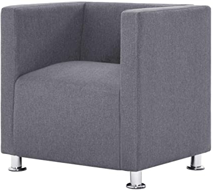 Famous Danow Polyester Barrel Chairs In Vidaxl Cube Armchair Wooden Frame Comfortable French Style (View 15 of 30)