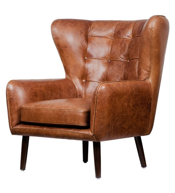 Famous Dorcaster Barrel Chairs Intended For Dorchester Wing Chair In Vintage Brown Colour (View 14 of 30)