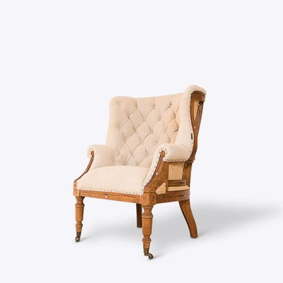 Famous Hampton Deconstructed Wingback Armchair Intended For Busti Wingback Chairs (View 14 of 30)