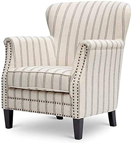 Famous Jofran Ch Flax Layla Accent Chair, White In Asbury Club Chairs (View 26 of 30)