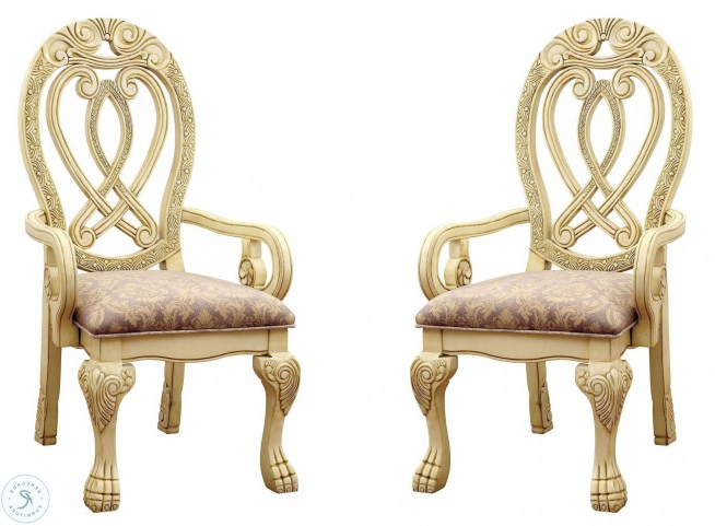 Famous Nadene Armchairs Regarding Wyndmere White Arm Chair Set Of (View 27 of 30)
