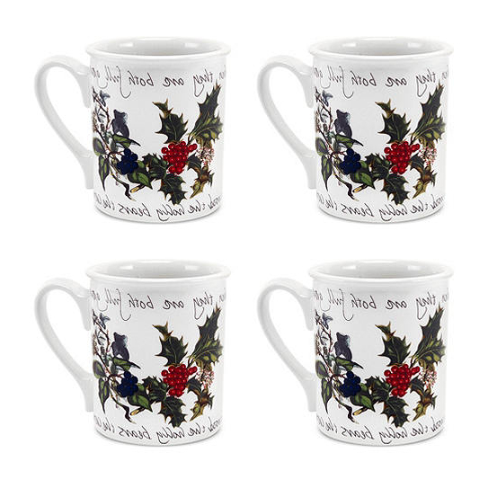 Famous Portmeirion Armchairs Pertaining To Portmeirion The Holly & The Ivy – Set Of 4 Breakfast Mugs (View 22 of 30)