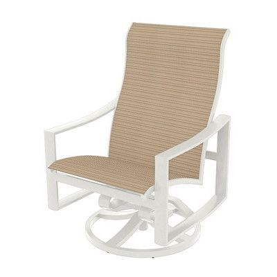 Famous Renay Papasan Chairs For Tropitone Kenzo Sling Swivel Action Lounger Rocking Chair (View 21 of 30)