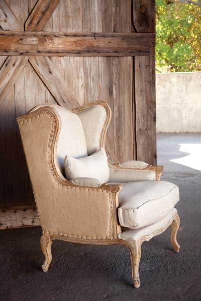Famous Sweetwater Wingback Chairs With Park Hill Collections Efs81685 Burlap And Linen Wingback (View 17 of 30)
