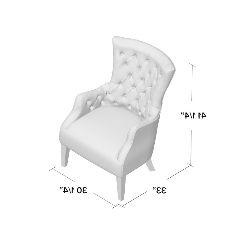 Fashionable Allis Tufted Polyester Blend Wingback Chairs For Steelton Button Wingback Chair (View 22 of 30)