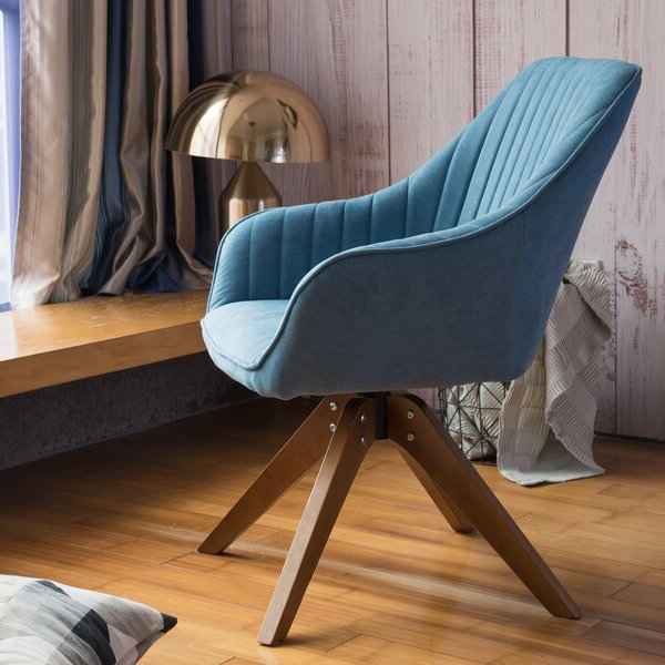 Fashionable Brister Swivel Side Chairs Pertaining To Blue Swivel Chair (View 9 of 30)