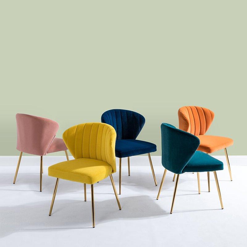 "Fashionable Daulton Velvet Side Chairs Pertaining To Daulton 20"" W Velvet Side Chair (View 6 of 30)"