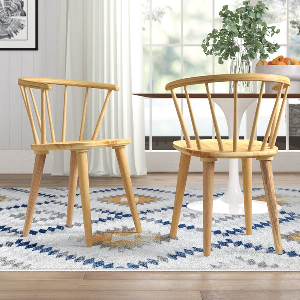 Favorite Bob Stripe Upholstered Dining Chairs (set Of 2) Pertaining To Cherry Wood Dining Chairs (View 21 of 30)