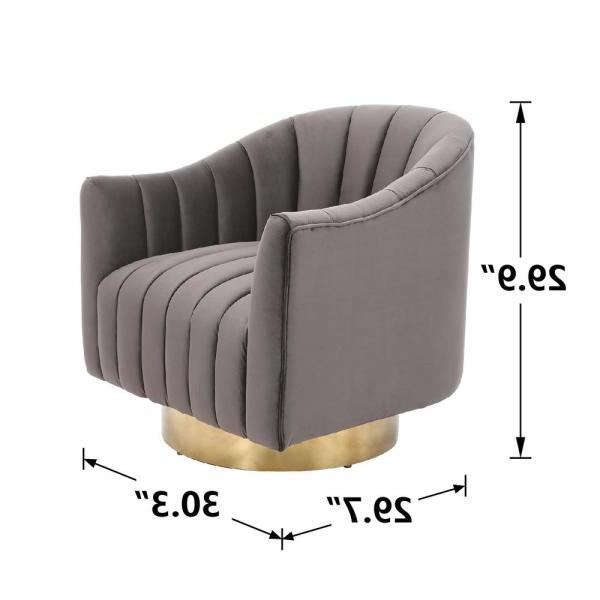 Favorite Boyel Living Velvet Electroplate Living Room Swivel Barrel Inside Danow Polyester Barrel Chairs (View 19 of 30)