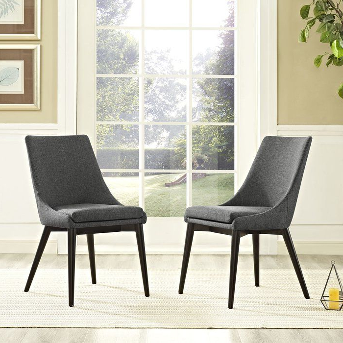 Favorite Carlton Wood Leg Upholstered Dining Chairs In Pin On House (View 7 of 30)