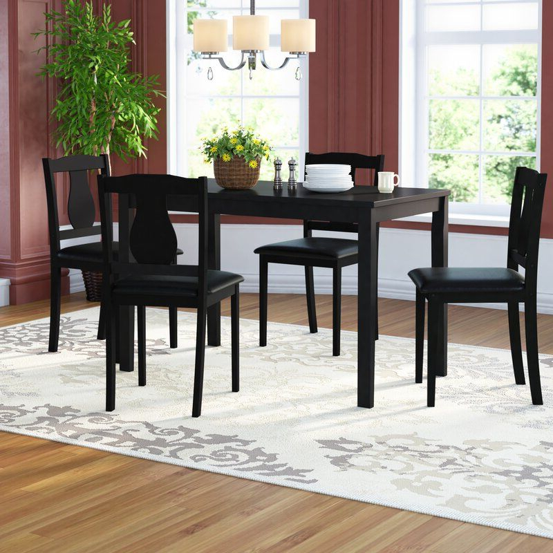 Favorite Daleyza Slipper Chairs Within Zipcode Design Daleyza 5 Piece Dining Set & Reviews (View 8 of 30)
