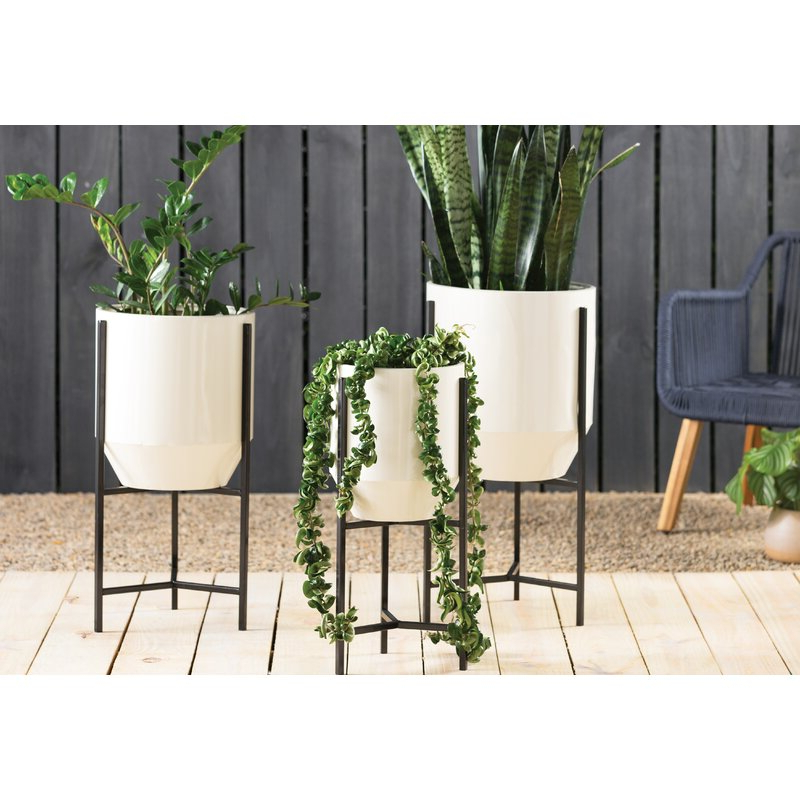 Favorite Dansby Tapered 3 Piece Iron Pot Planter Set With Ansby Barrel Chairs (View 18 of 30)