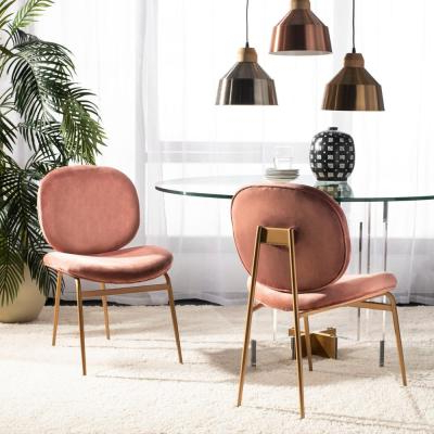 Favorite Erasmus Velvet Side Chairs (set Of 2) Throughout Pink – Accent Chairs – Chairs – The Home Depot (View 29 of 30)