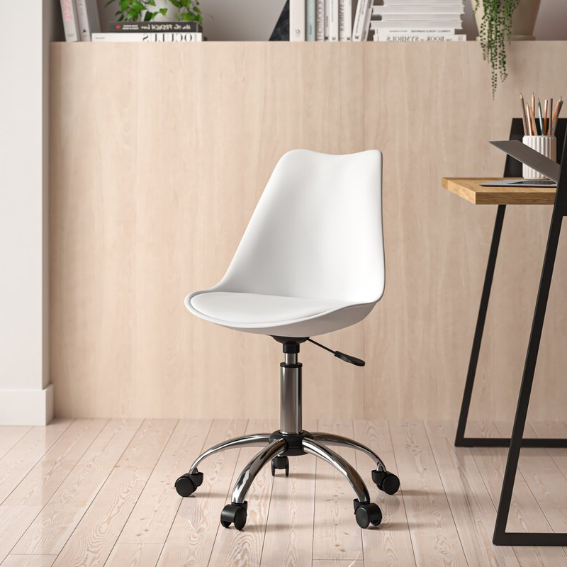 Favorite Harland Modern Armless Slipper Chairs Pertaining To Harland Polyurethane Task Chair (View 8 of 30)
