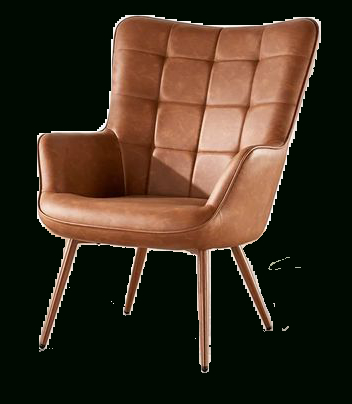 """Favorite Marisa 28"""" W Faux Leather Wingback Chair Regarding Brister Swivel Side Chairs (View 26 of 30)"""