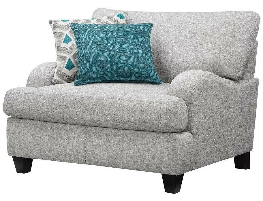 Favorite Marisa Faux Leather Wingback Chairs Regarding 4 Piece Living Room Set Rosalie Gray Sofa Loveseat Ottoman Chair And A Half (View 24 of 30)