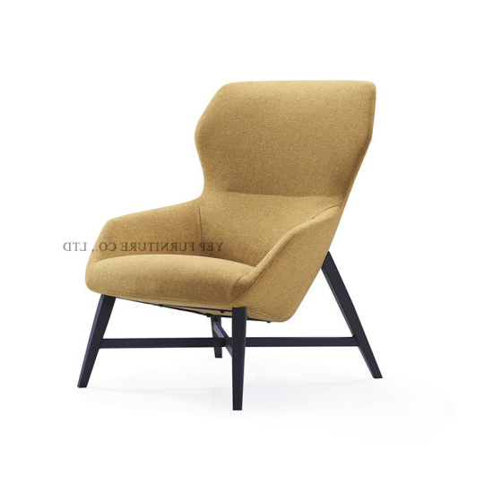 Favorite Modern Home Furniture High Back Fabric Lounge Chair With In Lounge Chairs With Metal Leg (View 16 of 30)