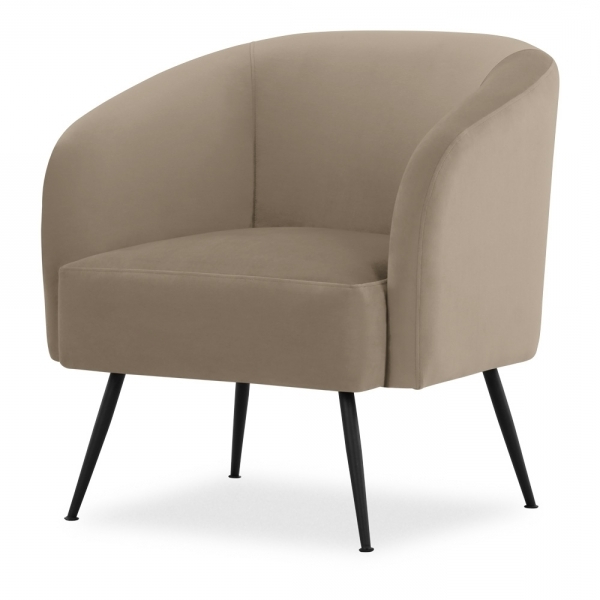 Favorite Nashville Armchair, Velvet Upholstered, Taupe Intended For Dara Armchairs (View 10 of 30)