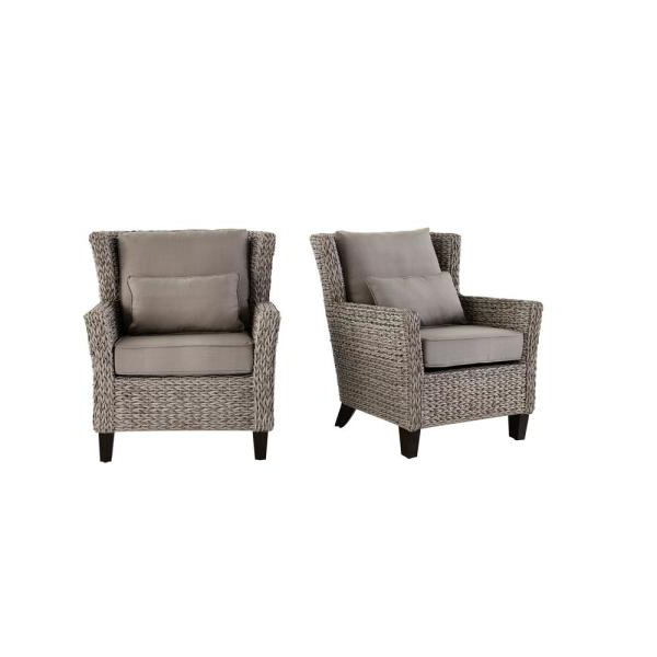 Favorite Outdoor Lounge Chairs – Patio Chairs – The Home Depot Within Roswell Polyester Blend Lounge Chairs (View 29 of 30)
