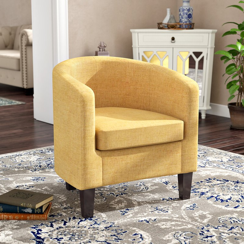 Filton Barrel Chairs Pertaining To Trendy Adelia Barrel Chair (View 17 of 30)