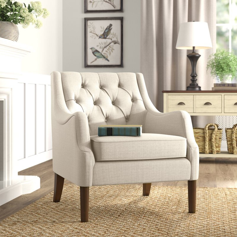Featured Photo of Galesville Tufted Polyester Wingback Chairs
