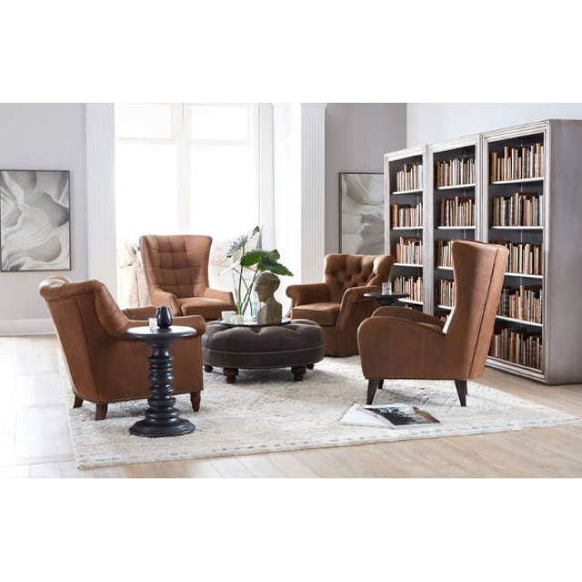 Gallin Leather Chairbradington Young Throughout Newest Gallin Wingback Chairs (View 9 of 30)