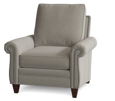 """Gallin Wingback Chairs With Regard To Popular Reddish 38"""" W Polyester Down Cushion Armchair Body Fabric: Common Sense Toast, Leg Color: Mahogany (View 13 of 30)"""