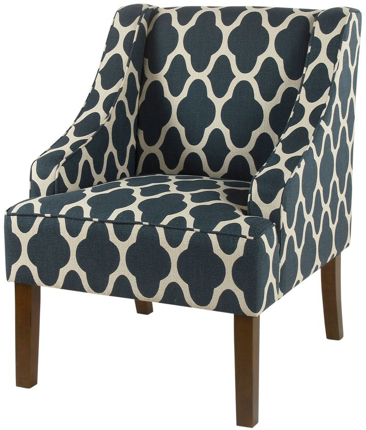 Geometric Swoop Arm Accent Chair With Regard To Current Goodspeed Slipper Chairs (set Of 2) (View 15 of 30)