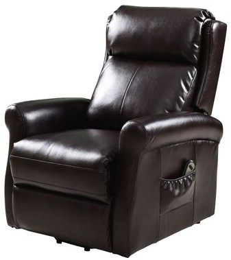Gilad Faux Leather Barrel Chairs For Trendy Alaxis Faux Leather Power Lift Assist Recliner (View 8 of 30)