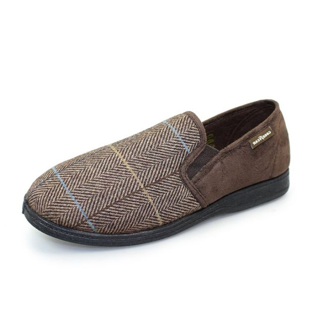 Goodyear Men's Harrison Slippers – Brown Regarding Well Liked Goodyear Slipper Chairs (View 25 of 30)