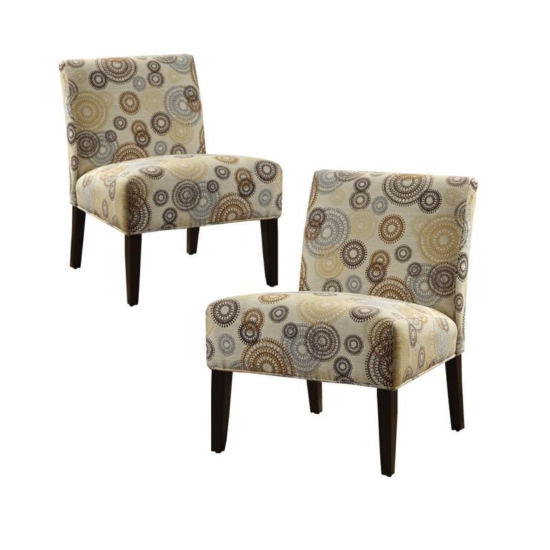 Goodyear Slipper Chairs With Preferred (set Of 2) Fabric And Espresso Accent Chair – Walmart (View 23 of 30)